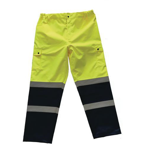 Reflexné nohavice Manutan, žlté/modré