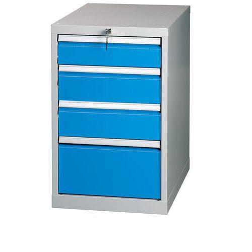 Zásuvkový kontajner, 81 x 50 x 70 cm , 4 zásuvky