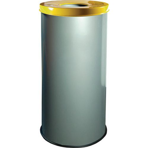 Kovové odpadkové koše EKO na triedený odpad, objem 45 l