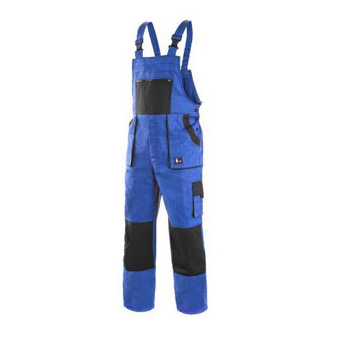 Zimné montérkové nohavice s náprsenkou, modré