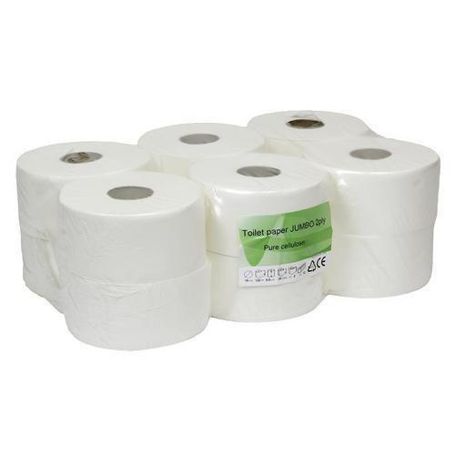 Toaletný papier Thin 2-vrstvový, 19 cm, 120 m, biely, 12 kotúčov