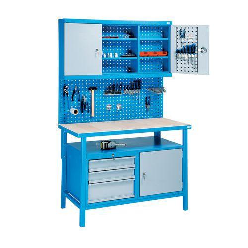 Zváraný dielenský stôl Rivt, 205 x 120 x 60 cm