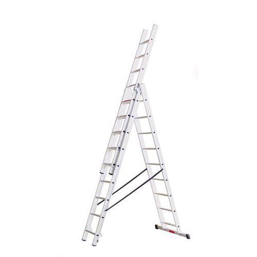 Výsuvný hliníkový rebrík PROFI, 3 x 9 priečok