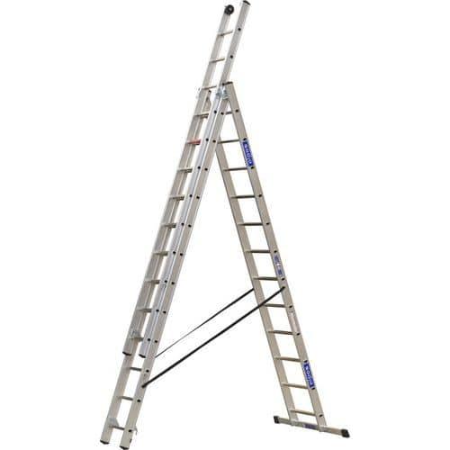 Výsuvný hliníkový rebrík PROFI, 3 x 12 priečok