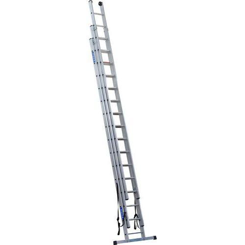 Výsuvný hliníkový rebrík PROFI, 3 x 15 priečok