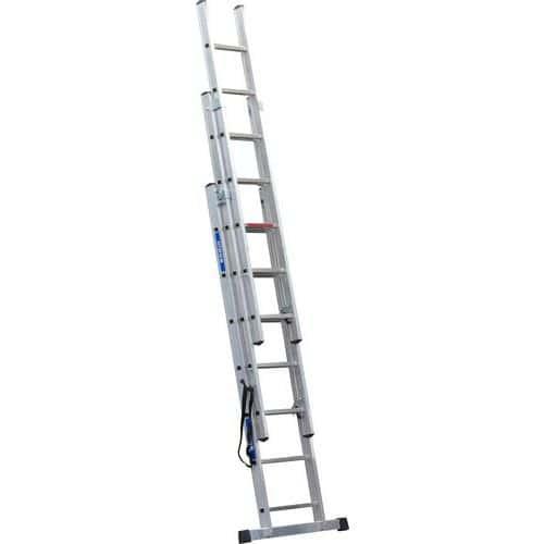 Výsuvný hliníkový rebrík PROFI, 3 x 7 priečok
