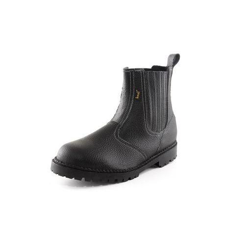Pracovné kožené členkové topánky CXS Drago, čierne