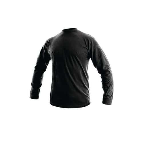 Pánske tričko s dlhým rukávom CXS, čierne