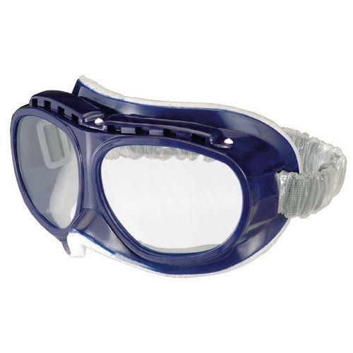 Uzatvorené ochranné okuliare Trip s čírymi sklami
