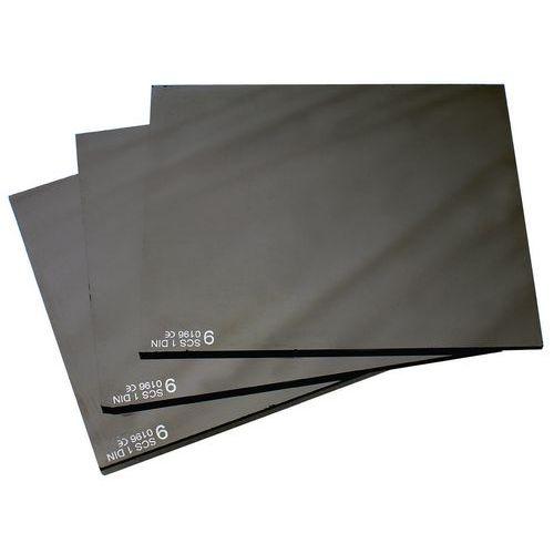 Tmavé sklá do zváračskej kukly, 90 x 110 mm