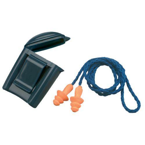 Vrúbkované zátky do uší 3M Box so šnúrkou, útlm 25 dB, 50 ks