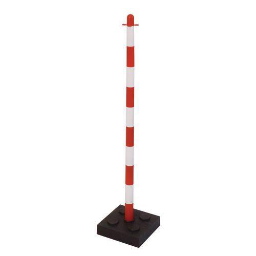 Plastové vymedzovacie stĺpiky Mayleen so zaťažením, výška 90 cm