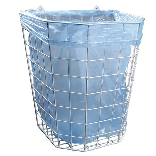 Hygienický drôtený odpadkový kôš Merida Octagon, objem 22 l