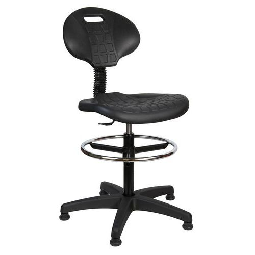Zvýšená Pracovná stolička s klzákmi