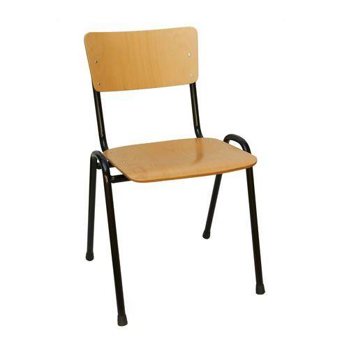 Drevená jedálenská stolička Black