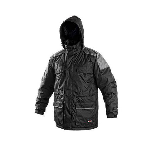 Pánska zimná bunda CXS, čierna/sivá