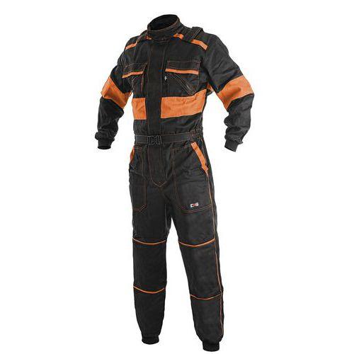 Pánska pracovná kombinéza CXS, čierna/oranžová