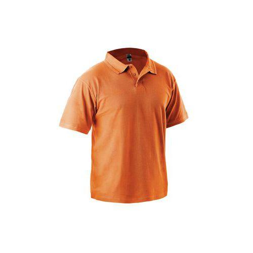 Pánska polokošeľa s krátkym rukávom, oranžová