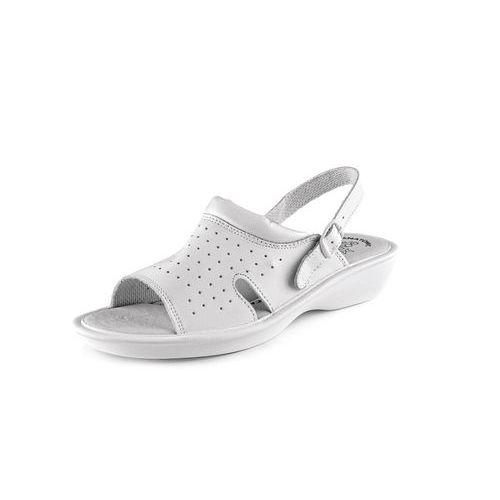 Zdravotnícke kožené sandále CXS Lime, dámske, biele