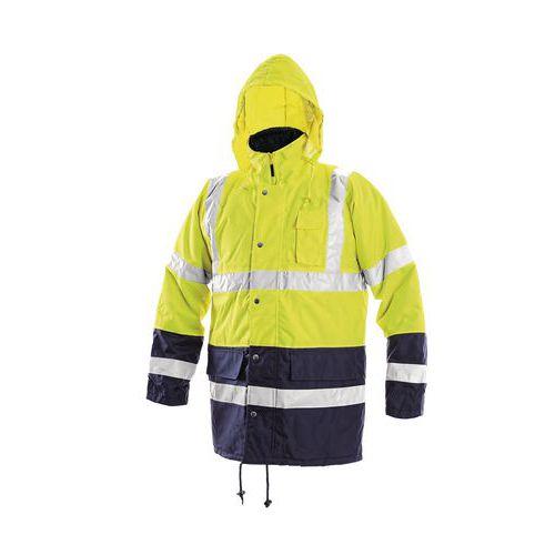Pánska zimná nepremokavá reflexná bunda CXS, žltá/modrá