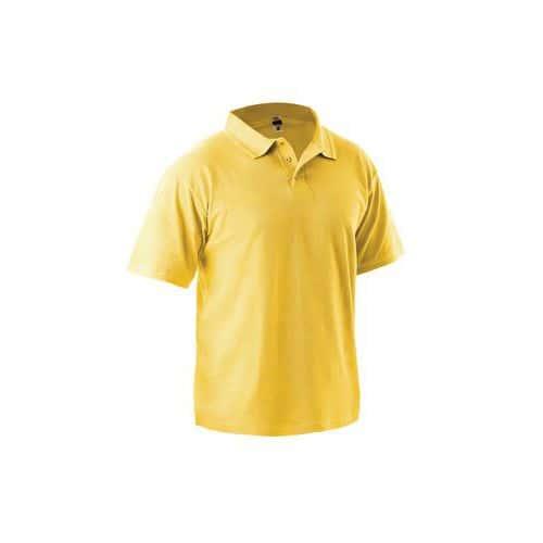 Pánska polokošeľa s krátkym rukávom, žltá