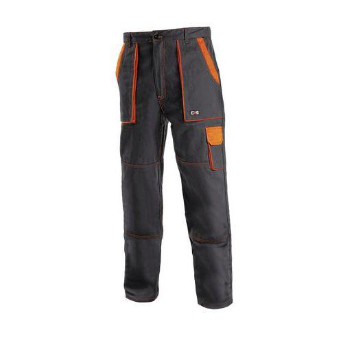 Pánske montérkové nohavice CXS, čierne/oranžové