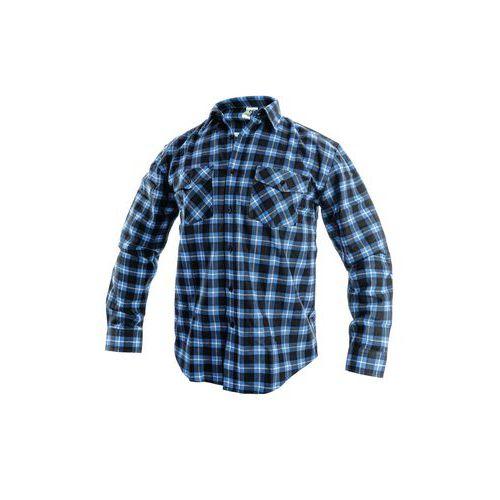 Pánska flanelová košeľa s dlhým rukávom, modrá/čierna