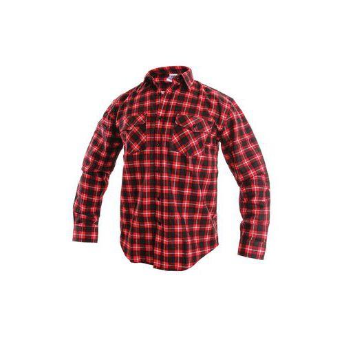 Pánska flanelová košeľa s dlhým rukávom, červená/čierna