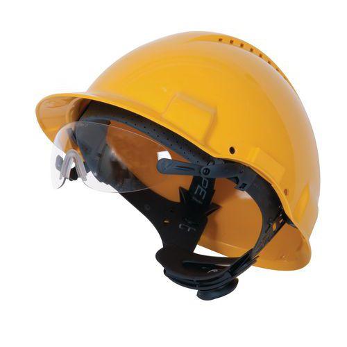 Nezahmlievacie okuliare na prilbu 3M s čírymi sklami