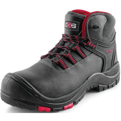 Pracovné kožené členkové topánky CXS Rock Granite, čierne