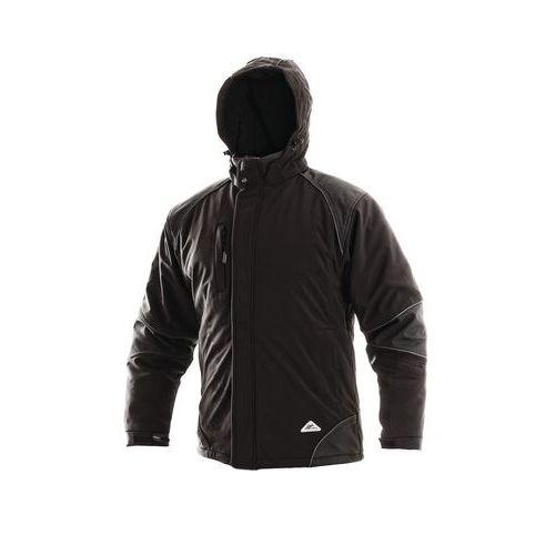 Pánska zimná softshellová bunda CXS s reflexnými prvkami, čierna