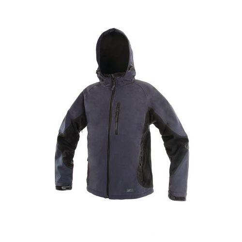 Pánska softshellová bunda CXS, modrá/čierna