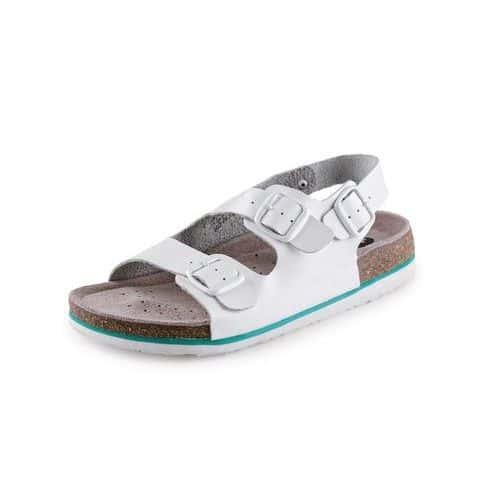 Zdravotné kožené sandále CXS Dr. Cork, dámske, biele