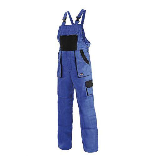 Dámske montérkové nohavice CXS s náprsenkou, modré/čierne