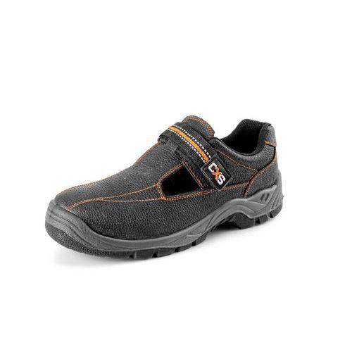 Pracovné kožené sandále CXS Stone, čierne