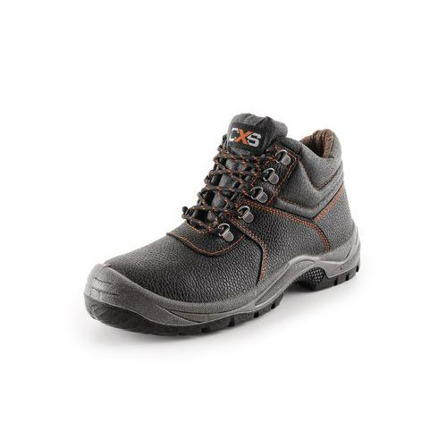 Pracovné kožené členkové topánky CXS Stone, čierne