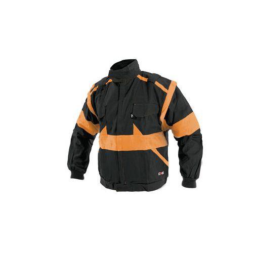 Pánska montérková blúza CXS, čierna/oranžová