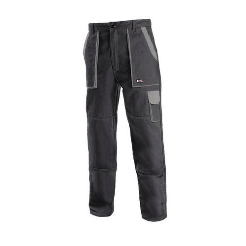 Pánske montérkové nohavice CXS, čierne/sivé