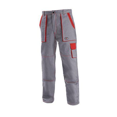 Pánske montérkové nohavice CXS, sivé/červené