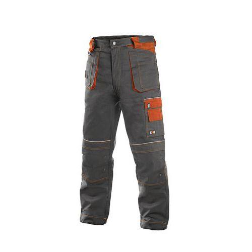 Pánske montérkové nohavice CXS s reflexnými prvkami, sivé/oranžové