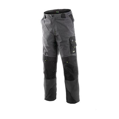 Pánske montérkové nohavice CXS, sivé/čierne