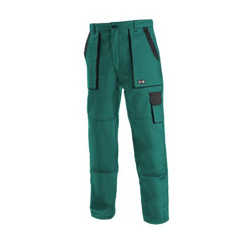 Dámske montérkové nohavice CXS, zelené/čierne
