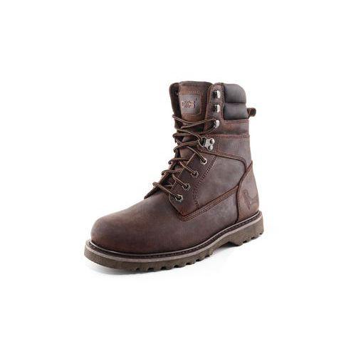 Pracovné kožené vysoké topánky CXS Road, tmavohnedé