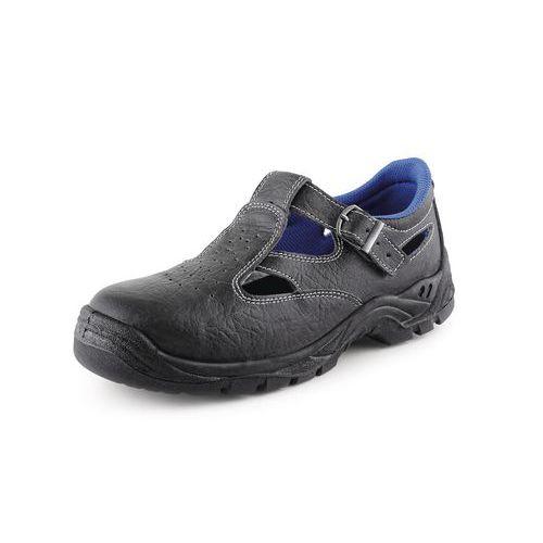 Kožené sandále CXS Dog Terier s oceľovou špicou, čierne