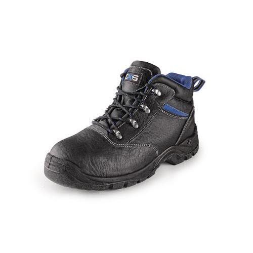 Pracovné kožené členkové topánky CXS Dog Boxer, čierne