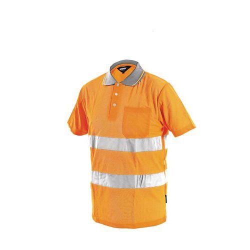 Pánska reflexná polokošeľa s krátkym rukávom, oranžová