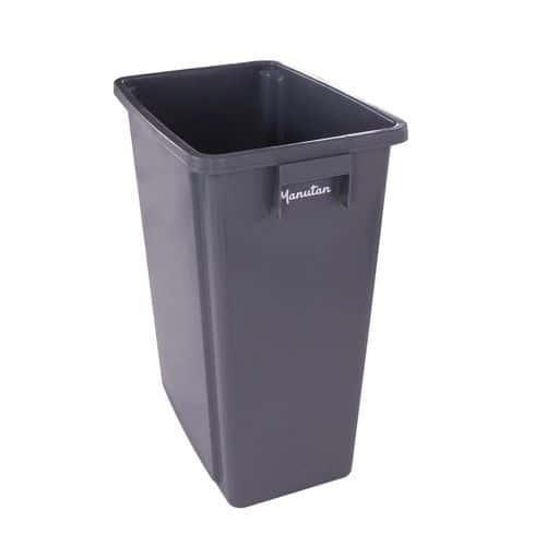 Plastový odpadkový kôš Manutan na triedený odpad, objem 80 l