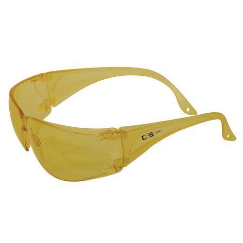 Ochranné okuliare CXS Lynx so žltými sklami