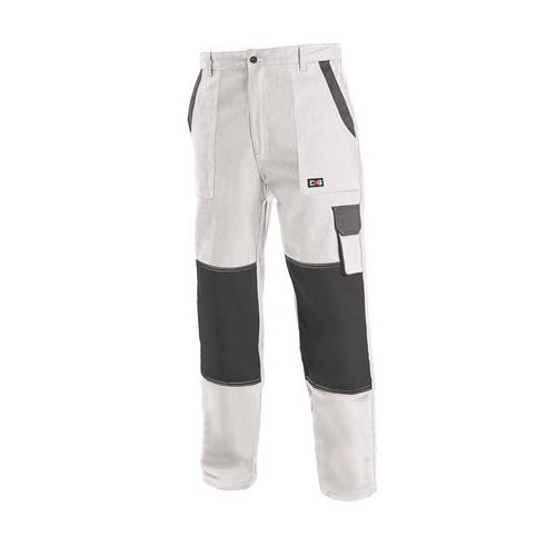 Pánske montérkové nohavice CXS, biele/sivé