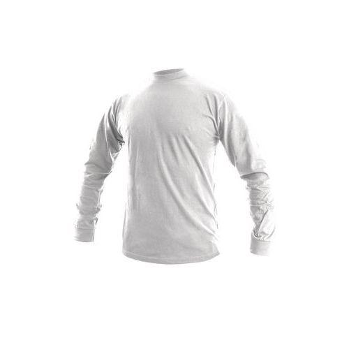 Pánske tričko s dlhým rukávom CXS, biele